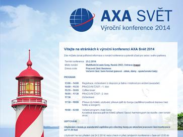 AXA svět - výroční konference 2014